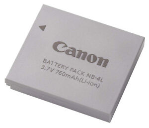 Genuine Canon Lithium-ion Battery NB-4L (3.7v 760mA) Original CANON