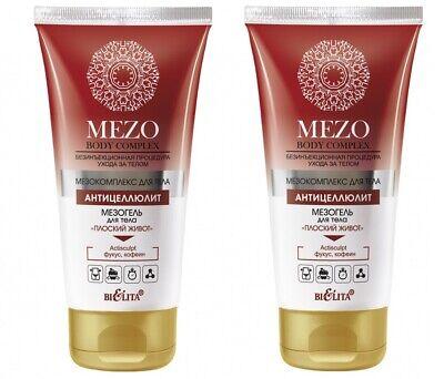 5,66Eur/100ml) 2x Belita MEZO Anti-Cellulite Massage Gel Bauch , 2x 150ml