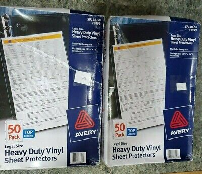 125 Avery Vinyl Sheet Protectors Heavy Duty Sturdy Clear 2 Boxes