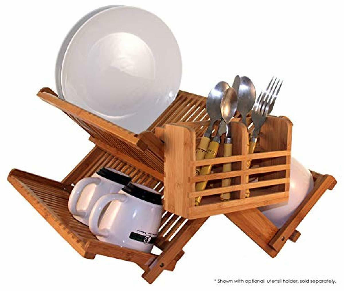 Totally Bamboo 20-6701 Dish Drying Rack, Brown