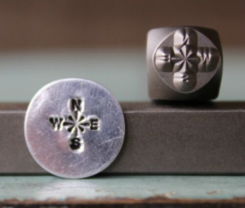 SUPPLY GUY 6mm Compass Metal Punch Design Stamp SGCH-127