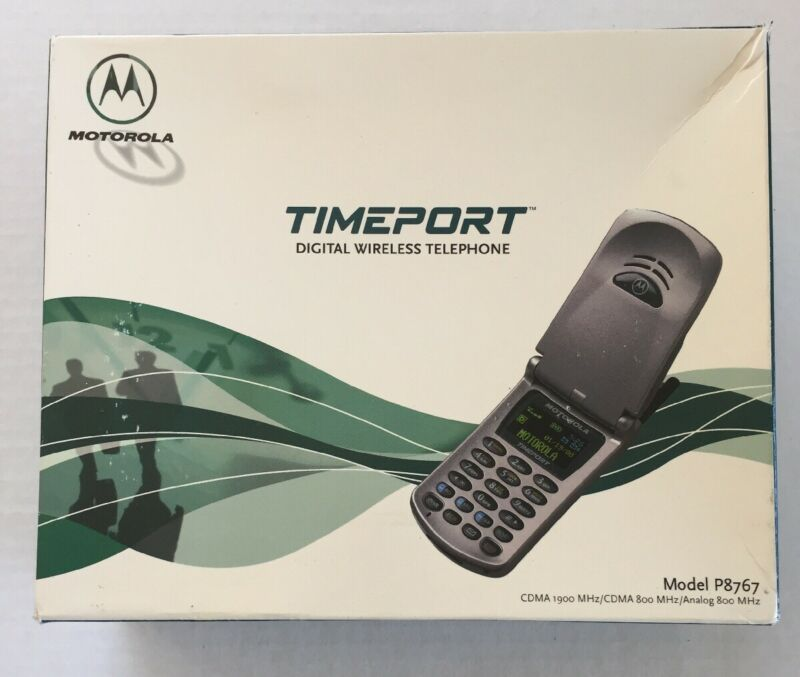 Vintage Motorola Timeport P8767 cellphone Empty Box Only movie play prop