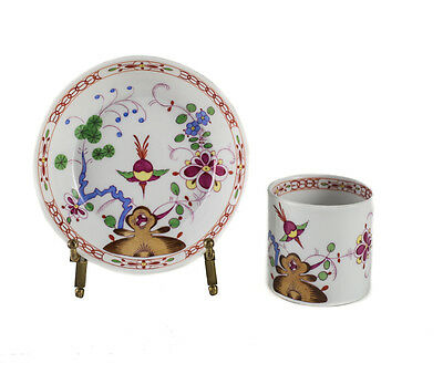 19th Century Meissen Porcelain Cup & Saucer Kakiemon Scene