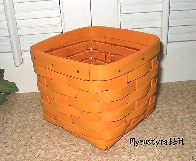 Longaberger  2010 Teaspoon Basket & Protector ~  Bright Orange