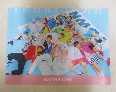 K-POP WANNA ONE 1st Mini Album [Pink Ver.] OFFICIAL POSTER -NEW-