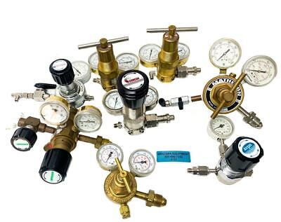 Concoa Matheson Praxair Victor Various Models Of Gas Regulators Lot Of 8 6737