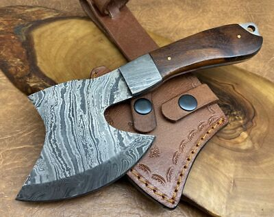 TITANs Handmade Damascus Steel small Axe Hunting Camping Crafts Gift 22cm X10-R