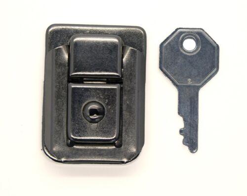 "Small Key Locking Latch with 2 keys  1.75"" Tall x 1.25""Wide"