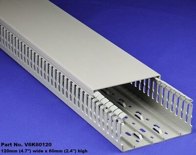 6 Sets - 5x2x2m Gray High Density Premium Wiring Ducts And Covers-ulcecsa