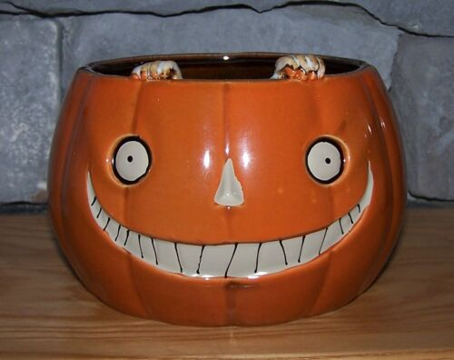 Yankee Candle Boney Bunch Pumpkin! Candy Dish, Candle Holder!