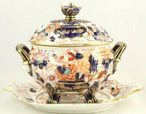 Antique English Regency IMARI Porcelain Lidded Sauce Tureen Early 1800s Derby