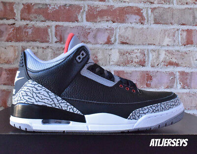 2018 Nike Air Jordan 3 III Retro OG Black Cement Grey Fire Red 854262-001