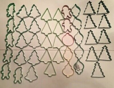 Cookie cutters Assorted Colored Vinyl Coated Metal Christmas set Of 34 Wilton