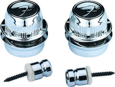 "Genuine Fender® ""F"" Strap Locks, Chrome 099-0818-300"