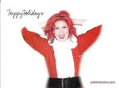 "JO DEE MESSINA 5""x 7"" FULL COLOR CHRISTMAS CARD LATE 90'S (?) VG+ CONDITION RARE"