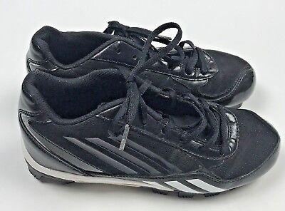 Adidas Baseball Cleats Shoes Boys Size 4 Youth Black White