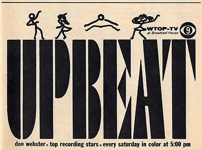 1967 Tv Ad Don Webster Hosts Upbeat Top Recording Stars Wtop Washington D C