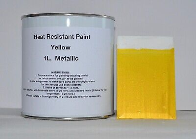 1L Yellow METALLIC Gloss Heat Resist Paint Engine Caliper Brake Car