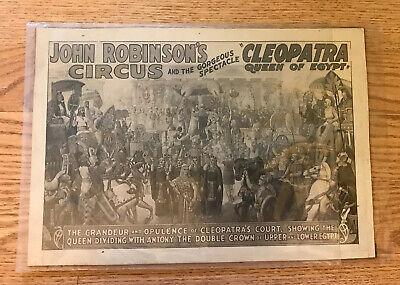 Vintage John Robinson's Cleopatra Circus Advertisement Poster