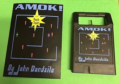 - AMOK Odyssey2 homebrew videogame cartridge Videopac Magnavox manual video game