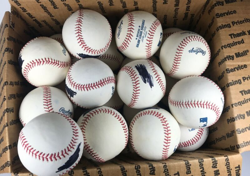 Lot of 22 Rawlings MLB Official Major League Baseballs Blemishes