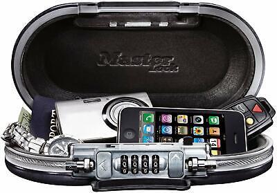 Security Box Fire Proof Safe Lock Storage Cash Money Gun Jewelry Portable Safety