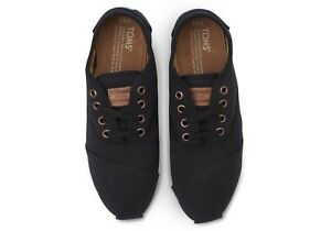Toms Shoes - Cordones Black Canvas Brand New