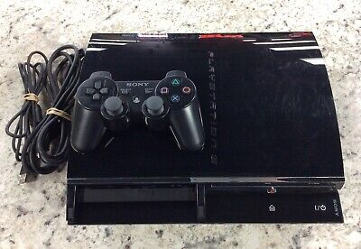 Sony PlayStation PS3 Fat 60GB Backwards PS2 Compatible CECHA01 Console WORKING!