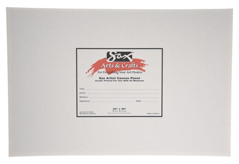 Sax Genuine Canvas Panel, 24 x 36 Inches, White