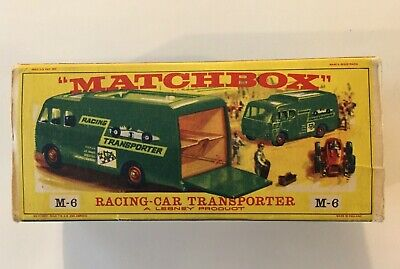 Vintage Matchbox Lesney, Racing Car Transporter M-6, BP, with Original Box, VG