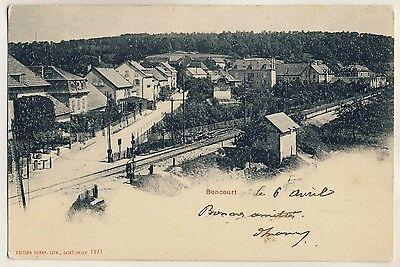 Jura BONCOURT Chemin de Fer / Bahnlinie / Station * AK um 1900
