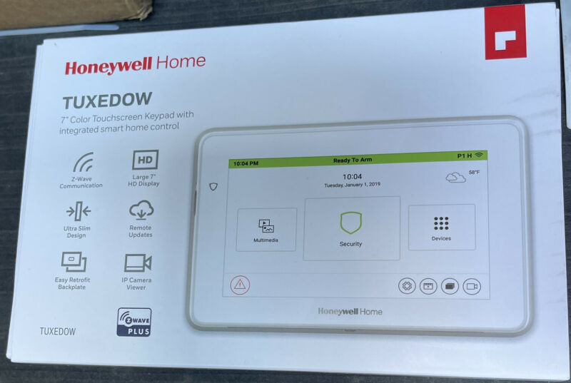Honeywell Resideo Tuxedo TUXEDOWC 7 inch Color Touchscreen
