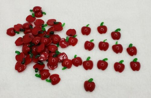 Glass Miniature Apples Crafting Decorating Country Themes Teacher Gifts & More