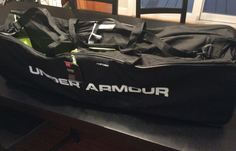 "New Under Armour Lacrosse Travel Bag 44x7x12"" - Black - New With Tags"