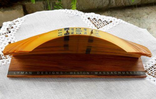 Vintage Engineering Lyman Radius Curves Set Wood Basew/58 Curves