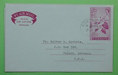 DR WHO 1970 GRENADA AEROGRAMME TO USA C242485