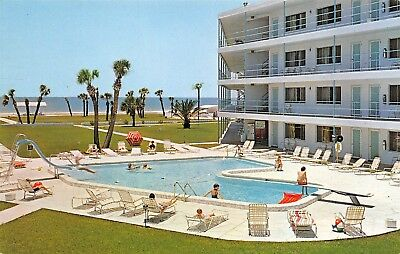St. Petersburg Beach Florida 1968 Postcard Coral Reef Motor Inn