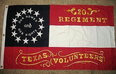 COTTON, Southern Civil War Flag..20th Texas Flag, Stars and Bars Flag