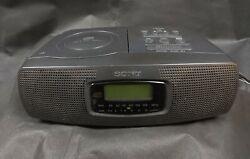 Sony AM FM Radio Alarm Clock CD Player ICF-CD820 Black