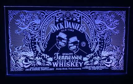 Jack Daniels Raw LED Remote Control Sign,Bar,Mancave,Light