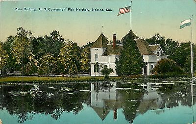 Missouri  Mo  Neosho  Main Bld  Us Gov Fish Hatchery 1910 Postcard