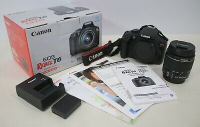 Canon Rebel T6 Digital SLR Camera 18-55mm Kit USA - Mint Condition - Must See!