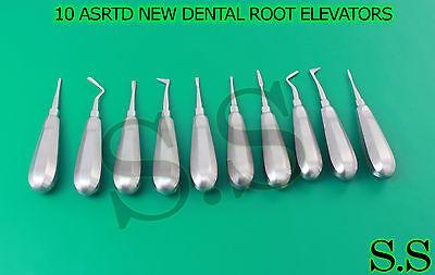 10 Asrtd New Dental Root Elevators Surgical Instruments