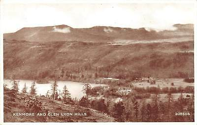 uk29257 kenmore and glen lyon hills scotland real photo uk