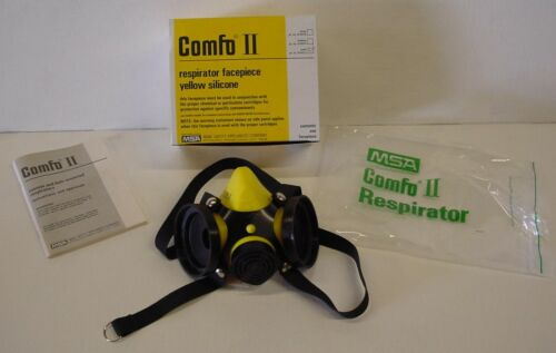 COMFO II RESPIRATOR Small Facepiece Black Works w/ Binks Cartridges NOT INCLUDED