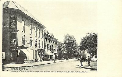 C1906 Printed Postcard  N  Second Street From The Square  Clearfield Pa Unposted