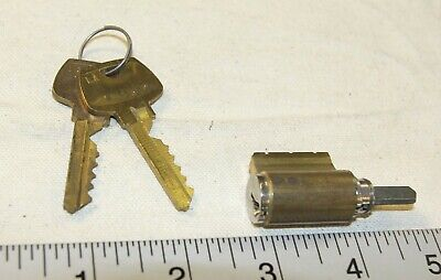 Sargent Locking Cylinder With 2 Working Keys - Tested Good