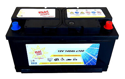 MAK Solarbatterie 12V 140Ah Wohnmobil Camping Versorgung Boot Reha Batterie , gebraucht gebraucht kaufen  Schörghof