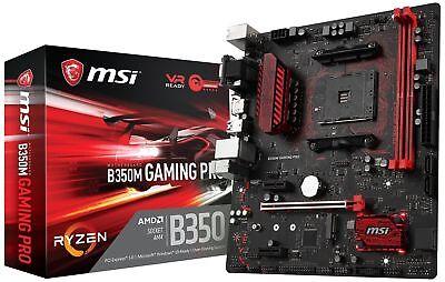 MSI Gaming AMD Ryzen B350 DDR4 VR Ready HDMI USB 3 CFX micro-ATX Motherboard ...