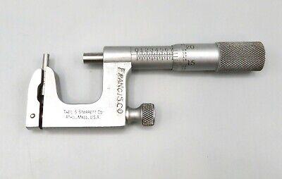 Vintage Ls Starrett Uni Anvil Outside Micrometer .001 0-1 Machinist Tool